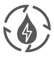 water energy glyph icon ecology and energy vector image vector image