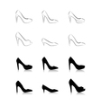 womans fashion high heels vector image