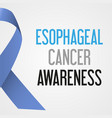 world esophageal cancer day awareness poster eps10 vector image vector image
