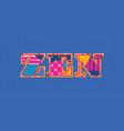 zen concept word art vector image