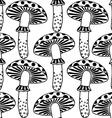zentangle amanita mushrooms vector image