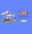 buying airplane online plane sale web banner vector image