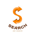 Letter S logo template Searching concept with vector image