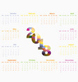 2018 calendar templatecalendar 2018 set of 12 vector image