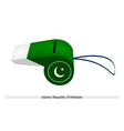 A Whistle of Islamic Republic of Pakistan vector image