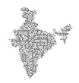 abstract schematic map of india from the black vector image vector image