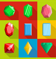 adornment icons set flat style vector image