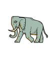 african elephant walking mono line art vector image vector image