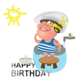 Birthday greetings for a sailor vector image