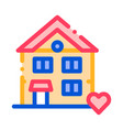 building house living home thin line icon vector image vector image