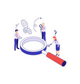 business isometric concept vector image