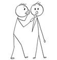 cartoon of man or businessman whispering a secret vector image