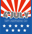 celebration of the independence day vector image