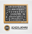 chalkboard with a set of sketch symbols english vector image vector image