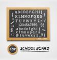 chalkboard with a set sketch symbols english vector image vector image