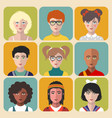 children avatars set of different vector image vector image