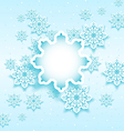 Christmas bubble with set snowflakes vector image vector image