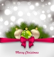 Christmas Shimmering Postcard vector image vector image