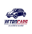 classic cars logo design vintage automotive with vector image
