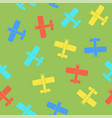 colored airplane silhouette seamless pattern vector image vector image
