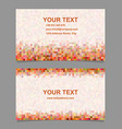 Colorful digital art mosaic business card design vector image vector image