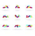 colorful symbols vector image
