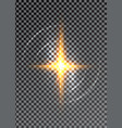 cross light shiny cross or bright star sign vector image