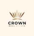 crown real estate logo template vector image
