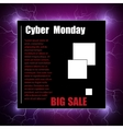 Cyber Monday banner vector image vector image