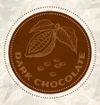 dark chocolate vintage paper vector image