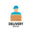 delivery icon concept delivery man service vector image vector image