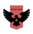 eagle skull emblem logo symbol vector image vector image