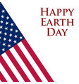 earth day in the united states vector image vector image