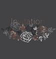 elegant hand drawn rose floral element vector image vector image
