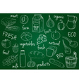farm products doodles school board vector image vector image
