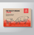 fine quality organic pork meat packaging vector image vector image