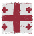 Flag of Georgia handmade square shape vector image