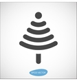 Funny Christmas tree icon based on wireless symbol vector image vector image