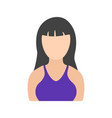girl with bangs vector image vector image