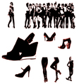girls silhouette vector image