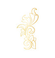 golden isolated headpiece floral decoration vector image vector image