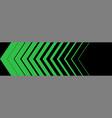 green arrow in a row arrows green on black vector image vector image