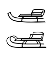 Hand drawn set of two sleds vector image vector image