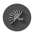 hand drawn sun icon with long shadow vector image vector image