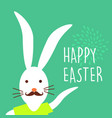 happy easter holiday hipster bunny card design vector image vector image