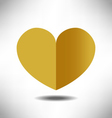 heart gold vector image vector image