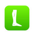 human leg icon digital green vector image vector image