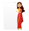 india woman with a board presentation flat vector image vector image