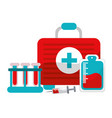 isolated blood donation design vector image vector image