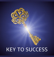 key to success background vector image vector image